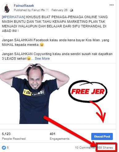 Cara nak viralkan post di facebook