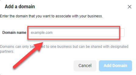 Cara verify domain facebook 1